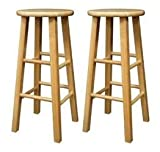 crate and barrel stool sale Set of 2 Solid Wood 29