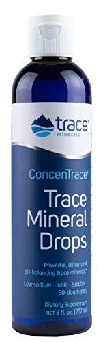 Concentrace Trace Mineral Drops. Magnesium, Chloride, Potassium. Ionic Sea Minerals from the Great Salt Lake in Utah. Hydration. Electrolyte. Performance. Energy. No sugar. 8 oz bottle