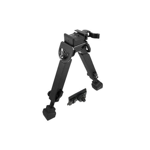 Full Height - Leapers TL-BP20Q-A Inc, UTG Rubber Armored Full Metal Quick Detachable Bipod, 6