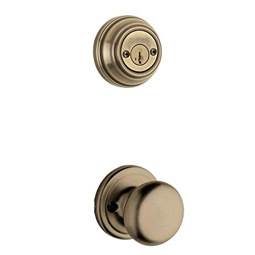 Brass Hancock Double Cylinder - Kwikset 967H-US5 Antique Brass Hancock Knob Double Cylinder Handleset (Interior Side Only)