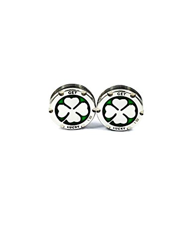 Deluxe Parsaver Putter Weights - Clover Shamrock Design - 20g Fits Studio Select GoLo California Futura X Blade Mallet Style (Hunter Blade Iron Set)