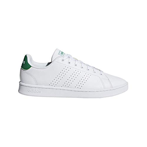 (adidas Men's Advantage, White/Green, 4 M US )