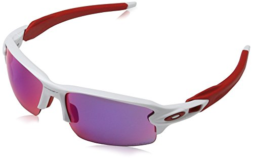 Oakley Men's Flak 2.0 OO9295-05 Non-Polarized Iridium Rectangular Sunglasses, Polished White, 59 - And Oakley Sunglasses White Green