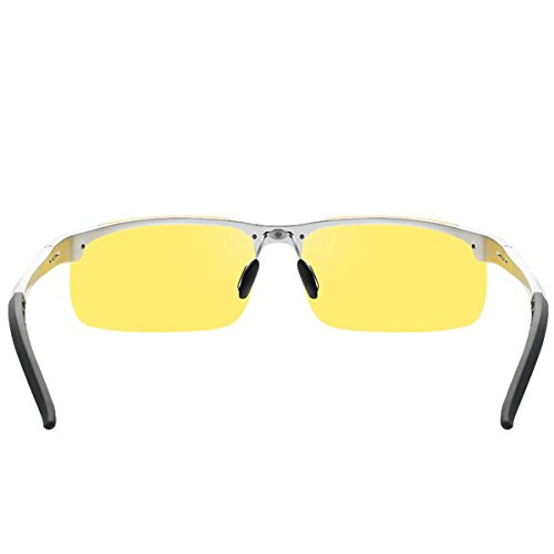 Macho KOMNY magnesio Gafas y Hombre de Gafas Té 8177 Sol Gafas Sol de de conduciendo Aluminio Tablets Night té de polarizadas Gafas de Enmarcado Vision 6r8Irxq