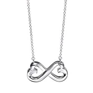 Tiffany And Co Pendant Double Loving Heart Silver 056