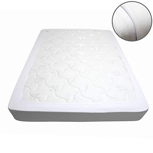 N&Y HOME Box Spring Cover, Sleek Alternative for Bed Skirts, Elastic Wrap Around, Queen, White (Mattress And Sets Box Spring Encasement)