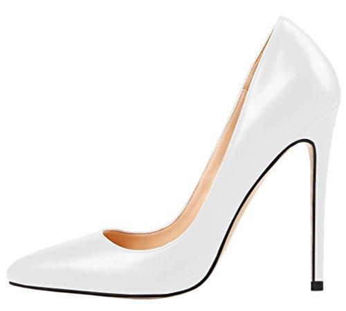 Weiß Classiques femme Pu AOOAR femme AOOAR Pu Pu Classiques AOOAR Classiques Weiß Weiß femme ftPw7xqtA