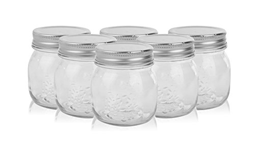 Golden Spoon Mason Jars, With Regular Lids, and Lids for Drinking, Dishwasher Safe, BPA Free, (Set of 6) (10 oz)