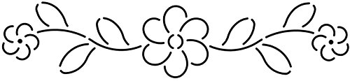 Quilting Creations Floral Border Quilt Stencil, 11 x 3