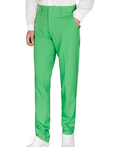 - Men's Golf Pants Plaid Tapered Stretch Khaki Tech Relaxed Fit Checkered Size 32 Green