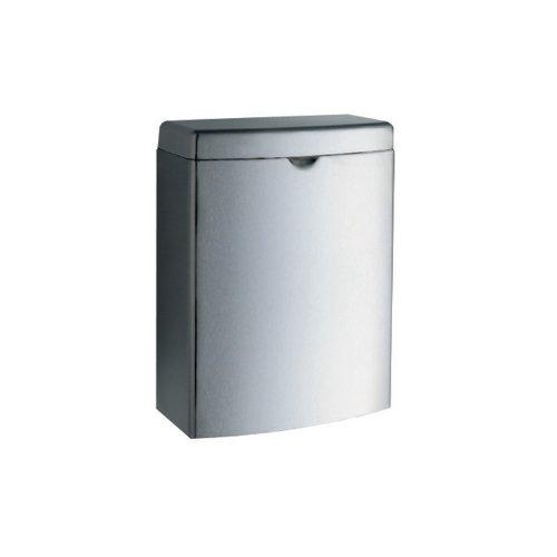 Bobrick 270 Contura Sanitary Napkin Receptacle, Rectangular, Stainless Steel, (Bobrick Toilet Partitions)