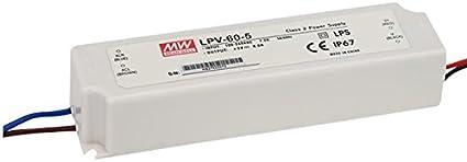 MeanWell LPV-60-24 Fuente de alimentación (24 V, 60 W)