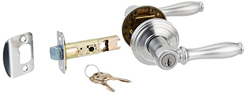 Kwikset 740ADL 26D SMT CP K4 Ashfield Entry Lever Featuring Smartkey, Satin Chrome