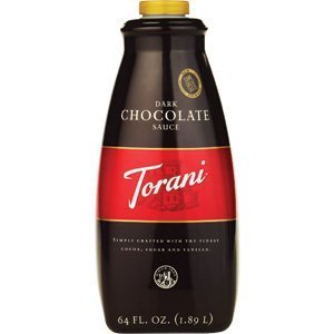 Torani Dark Chocolate Sauce - Case of 4 (64oz bottle) ()