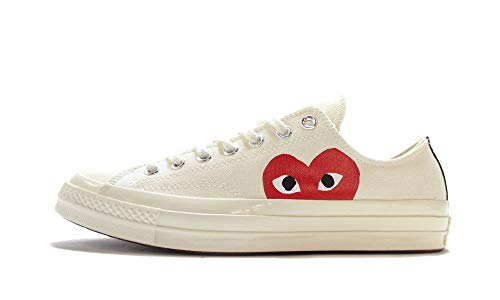 Converse Chuck 70 CDG Play (Milk/White/High Risk Red,8.5)