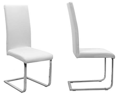 BEAUTEX - Juego de 2 fundas para silla (color a elegir), elasticas, de algodon, bielastica, algodon, Blanco, Onesize Stretch