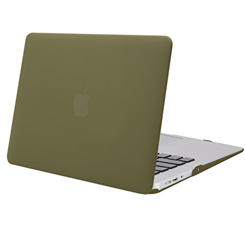 MOSISO MacBook Air 13 Case (Models: A1369 & A1466, Older Version 2010-2017 Release), Plastic Hard Shell Case Cover Only Compatible MacBook Air 13 Inch, Capulet Olive