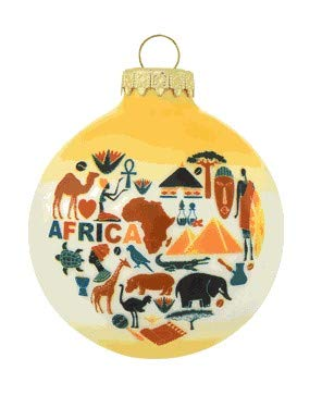 On Holiday Heart Africa Christmas Tree Ornament