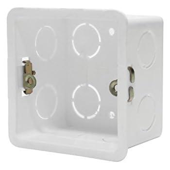 ledenet 2pcs 86x86x40mm recessed electrical outlet