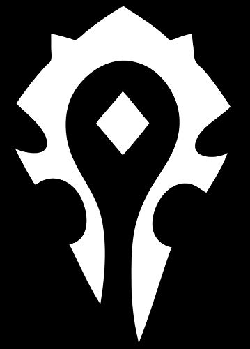 (PP 8916 Vinyl Decal Sticker World of Warcraft Horde 6'' (White). Apply on Cars, Trucks, Vans & LAPTOPS)