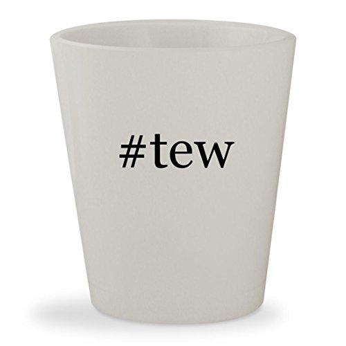 #tew - White Hashtag Ceramic 1.5oz Shot Glass