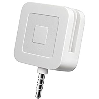 White NEW 2 x Square Magstripe Reader with 3.5mm Headphone Connectors
