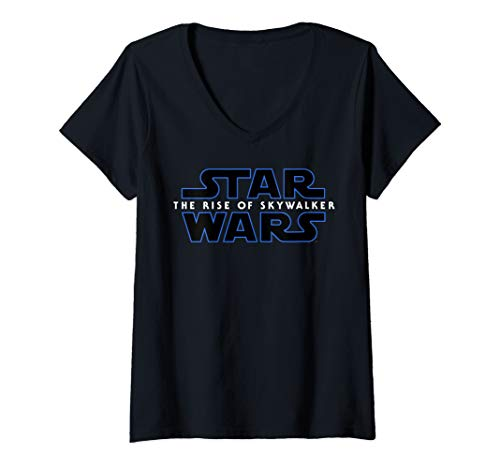 Womens Star Wars The Rise Of Skywalker Movie Logo C1 V-Neck T-Shirt