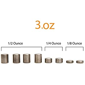 Tungsten Weights 3oz for Derby Car. Incremental Cylinders to make the Fastest Derby Cars on the race track.