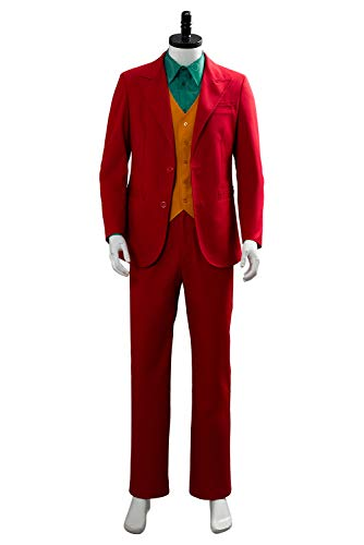 Fancycloth Halloween Clown Cosplay Costume 2019 Retro Red Party Suit Outfit