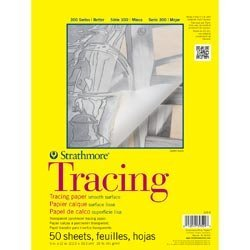 Bulk Buy: Strathmore (3-Pack) Tracing Paper Pad 9in. x 12in. 50 Sheets 370900 by Strathmore