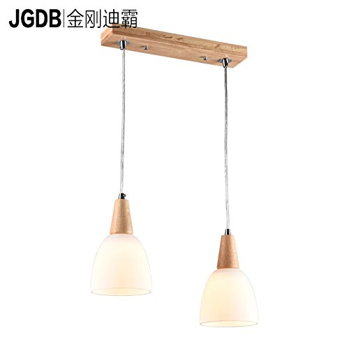 (Yomped Kim Led Lamp Chandelier Chandelier Modern Minimalist Wooden Restaurant/Single Head Three Head North Italian Restaurant Lights Ouyi Chandelier Lamp Desk Lamp Photo Color Single Head - with 3W)