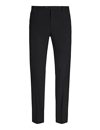 HBDesign Mens Outdoor Ball Slim Fit Flat Straight Black Iron Free Pants ()