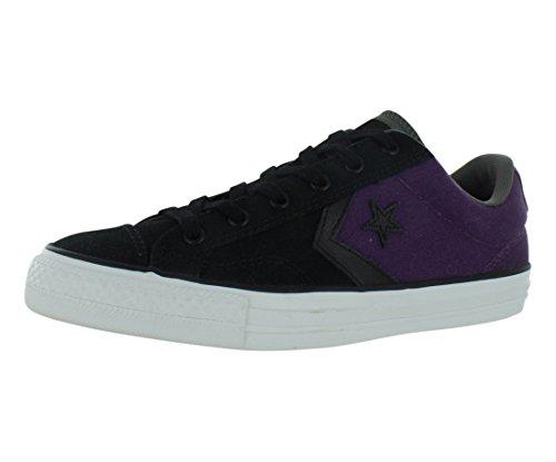 Converse Star Player Ox Black/Elderberry Ankle-High Canvas Fashion Sneaker - 12.5M 10.5M