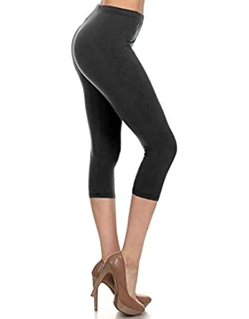 2b517342ca7cc9 Leggings Depot High Waisted Capri Leggings - Soft & Slim - 37+ Colors