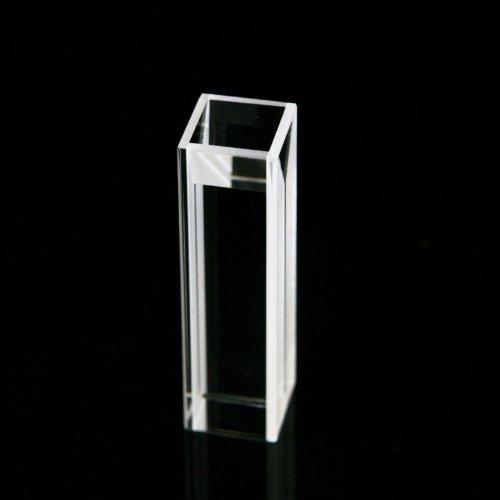 Micro Fluorescence Quartz Cuvette Open top type with PTFE cover, 10 mm light path, 0.4 ml volume, 4 transparent windows