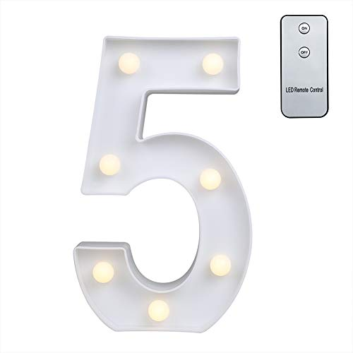 Carry360 LED Marquee Letters with Remote Control, Plastic LED Letter Lights Alphabet Light Up Sign Decoration, Letters A - Z, Numbers 0-9, Symbol & -
