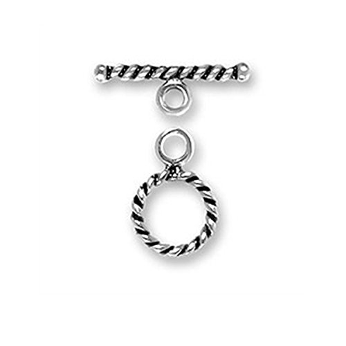 - Sterling Silver Small Twisted Jewelry Toggle Clasp #23 - 9mm
