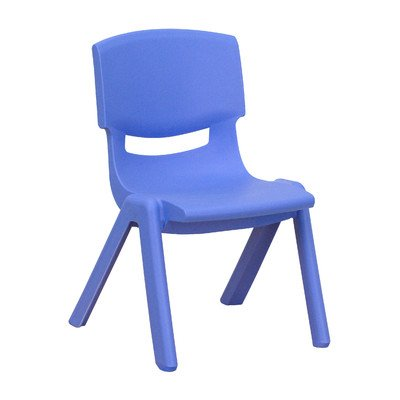 10.75'' Plastic Classroom Chair [Set of 5] Seat Color: Blue