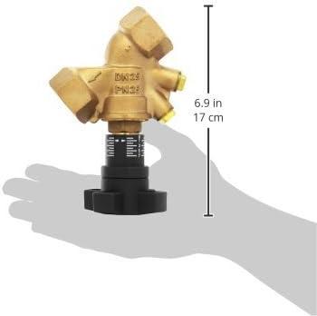 1 Zoll IG mit Blindstopfen Oventrop Strangregulierventil Hydrocontrol VTRDN25 1060108 rotguss