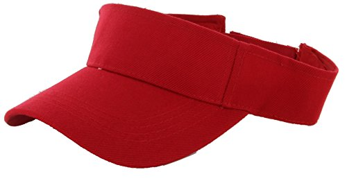 DealStock Plain Men Women Sport Sun Visor One Size Adjustable Cap (29+ Colors) - Visors Large Billed