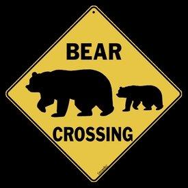 Bear Crossing Sign bear and cub