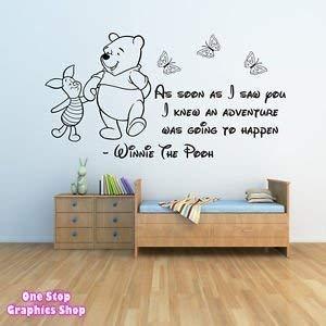 61f668310617 1Stop Graphics - Shop Winnie The Pooh Wall Sticker 3 - Girls Boys ...