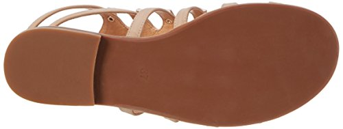 Buffalo Shoes 15bu0230 Leather Pu, Sandalias de Gladiador para Mujer Beige (Nude 01)