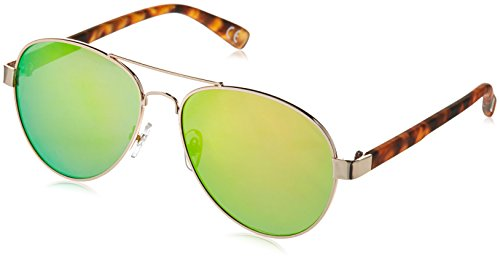 Foster Grant Women's Active for Her 1 Aviator Sunglasses, Gold, 54 - Sunglasses Aviator Grant Foster