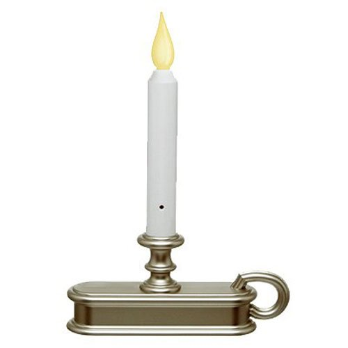 window candle with light sensor orange flame pewter base fpc1225p
