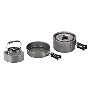 Lightweight Camping Cookware Set Hiking Backpacking Outdoor Cooking Picnic Set