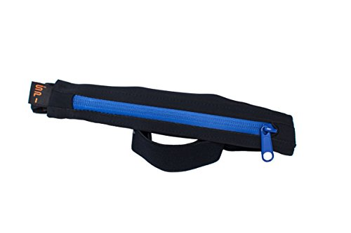 SPIbelt: Weather-Resistant Performance Series - No Bounce Belt Fits iPhone 6 Plus & Other Big Phones (Blue Zipper, 29? Through 52?)