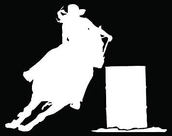 Cowgirl Horse Barrel Racing Vinyl Decal Sticker