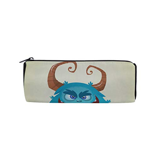 A Host of Creepy Monsters Students Super Large Capacity Barrel Pencil Case Pen Bag Cotton Pouch Holder Makeup Cosmetic Bag for Kids ()