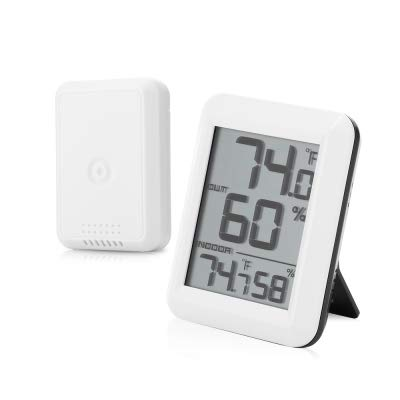 Price comparison product image Wireless Digital Hygrometer Thermometer Temperature / Humidity Gauge Meter with Outdoor Sensor